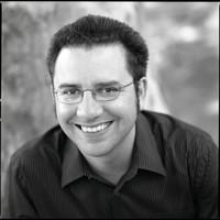 Black and white photo of Richard Van Camp