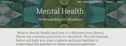 Mental Health: Understanding for Educators